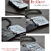 Giveaway – THE EDGE OF NEVER Book Necklace